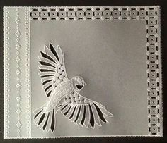 Wendy Walters Groovi parchment design Parchment Design, Bird Stencil, Parchment Cards, Handmade Stamps, Paper Cards, Barbara Gray, Crafts To Make, Stencils, Projects To Try