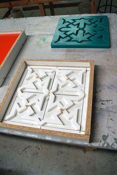 The Finished FormRub 35 Mold Concrete Sculpture, Concrete Forms, Concrete Art, Concrete Design, Decorative Concrete, Fake Brick Wall, 3d Wall Tiles, Concrete Casting, Brick Texture