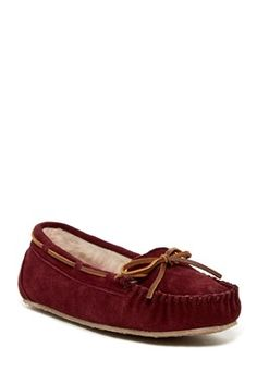 c3dab643350 Junior Trapper Faux Fur Lined Moccasin Slipper (Women). Womens Slippers