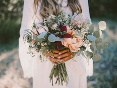 Organic bridal bouquet with lots of greens Wedding In The Woods, Our Wedding, Dream Wedding, Wedding Bells, Wedding Events, Floral Wedding, Wedding Flowers, Woodland Wedding, Bride Bouquets
