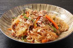 Korean Japchae Noodle Dish