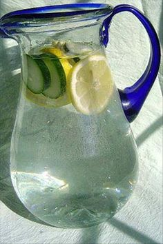 Cucumber & lemon water