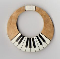 gourd earrings - piano keyboard