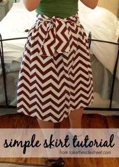 Take the Side Street: Easy Skirt Tutorial (Just One Yard of Fabric Needed!)