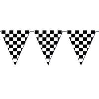 """Checkered Outdoor Pennant Banner Description: Decorate your race party with this long banner! Tell everyone to """"race"""" to your party with this black and white check Birthday Party Images, Cars Birthday Parties, Birthday Bbq, Kid Parties, Birthday Ideas, Festa Monster Truck, Monster Trucks, Monster Jam, Go Kart Party"""