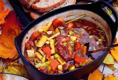 Høstgryte Foods To Eat, Pot Roast, Feta, Great Recipes, Ethnic Recipes, Sunday School, Carne Asada, Roast Beef
