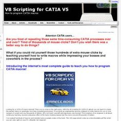 Cad Engineer Reveals How To Write Macros For Catia V5, A 3d Cad Program Used In The Automotive And Aerospace Industries. See more! : http://get-now.natantoday.com/lp.php?target=ntweisen