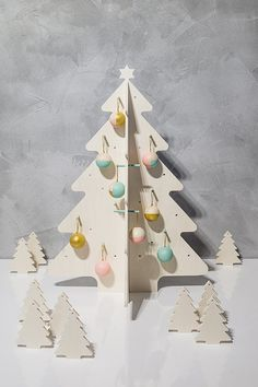 Wooden Christmas Tree  18 ornaments _ 55 cm by SeeTheLittleThings