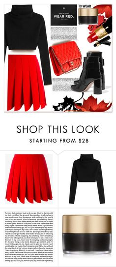 """""""Fall Beauty : Red Lipstick"""" by dragananovcic ❤ liked on Polyvore featuring Miu Miu, Valentino, PBteen, Stila and Christian Louboutin"""