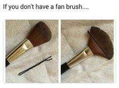 Makeup-Hacks für alle - Make-up Anleitung Beauty Make-up, Beauty Makeup Tips, Beauty Secrets, Eye Makeup, Makeup Hacks, Makeup Tutorials, Makeup Kit, Fan Brush Makeup, Blusher Makeup