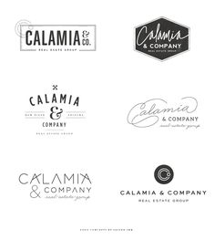 Brand Launch: Calamia & Co. Real Estate Group - Salted Ink Design Co. | Logo Concepts | #brand #logo #realestate