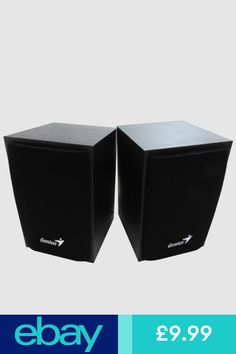 Genius SP HF160 PC Speakers Black Wood USB Powered 35mm Audio Jack Phone Tablet