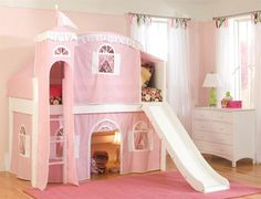 Very cute toddlers loft bed for a bedroom idea ♥