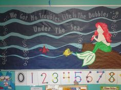 Little Mermaid Bulletin Board for our summer adventure on the Yellow Submarine