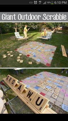 Have some fun in your backyard with these awesome DIY backya.- Have some fun in your backyard with these awesome DIY backyard games. Have some fun in your backyard with these awesome DIY backyard games. Outdoor Party Games, Backyard Games, Outdoor Play, Giant Outdoor Games, Outdoor Toys, Backyard Landscaping, Backyard Ideas, Outdoor Activities, Outdoor Games For Adults