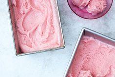 Roasted Strawberry-Buttermilk Sherbet