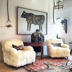 Pair of Sheepskin Chairs 3