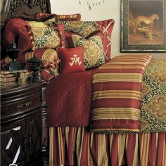 I love pillows on bed... a darn nuisance when it's time to sleep, and make the bed, but it sure looks great :-)