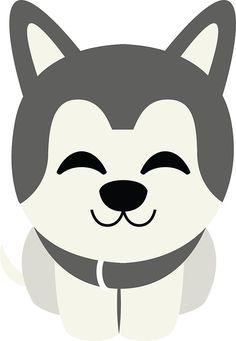 Siberian+Husky+Emoji+Delighted+Cheerful+Look