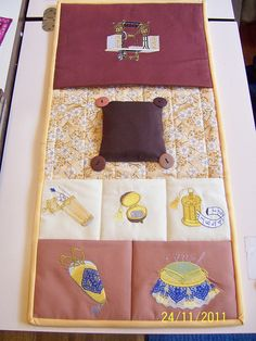 Sewing Caddy Embroidered & Quilted by Fiber Art Plus, via Flickr