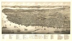 Vintage Map  Halifax Nova Scotia Canada 1879 by Imagerich on Etsy, $30.00
