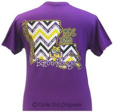 LSu shirt- I have this one Lsu Tigers, Tigers Live, Louisiana State University, Fish Man, Chevron Dress, Sorority Shirts, All Things Purple, Purple Gold, Clothes For Women
