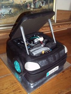 Car Engine Grooms Cake aka the BEAST Artisan cake company Car