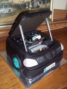 Car Engine Grooms Cake aka the BEAST Artisan cake company Car