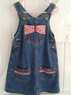 Denim over-dress unique up-cycled. by DelaneyDesignsBabyB on Etsy