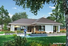Wizualizacja AN TATIANA REX CE New Homes, Exterior, Outdoor Structures, Outdoor Decor, Modern, House, Home Decor, Trendy Tree, Decoration Home