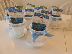 Pretty pot and seed baptism or communion favors
