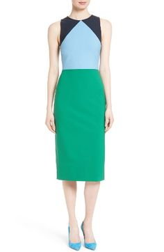 Free shipping and returns on Diane von Furstenberg Stretch Wool Midi Sheath Dress at Nordstrom.com. Pre-order this style today! Add to Shopping Bag to view approximate ship date. You'll be charged only when your item ships.Superbly tailored form seasonless stretch wool, this dress stands out with long, lean lines spliced with bold blocks of color.