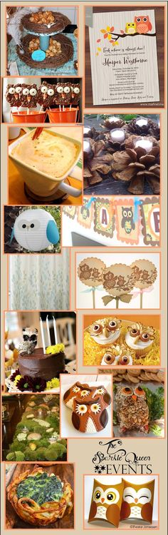 Pinner said: Rustic Owl Baby Shower {Mostly DIY} idea and design board Owl Shower, Shower Party, Baby Shower Parties, Baby Shower Themes, Baby Boy Shower, Baby Shower Decorations, Shower Ideas, Baby Showers, Dream Baby