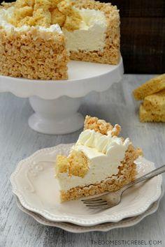 Rice Krispy Treat No Bake Cheesecake