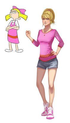 Teen versions of cartoons by Isaiah K. Stephens: Hey Arnold