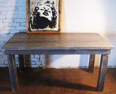 modern farmhouse dining table with the galvanized chairs!