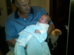 I gave him up for two minutes so pops could hold him...I want to kiss him every second!!!