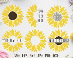 Floral alphabet clipart floral monograms line art wedding Sunflower Clipart, Sunflower Png, Sunflower Mandala, Sunflower Design, Sunflower Stencil, Watercolor Sunflower, Circle Monogram, Free Monogram, Monogram Fonts
