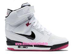 Nike Air Revolution Sky Hi GS 2015 Women��s High LifeStyle Shoes White/Black-Purple