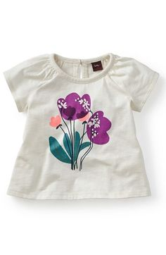 Tea Collection 'Lamms Lilies' Graphic Tee (Baby Girls) available at #Nordstrom