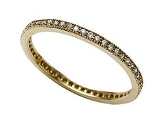 Zoe R(tm) Yellow Gold Plated Sterling Silver Micro Pave Hand Set Cubic Zirconia (CZ) Stackable Eternity Band Zoe R. $44.99. Free Jewerly Box. Guaranteed Authentic from the Zoe R designer line