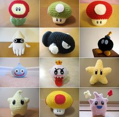 Crocheted amigurumi dolls for yourself or your kids? If you dont know what amigurumi is, it's making adorable little animals/dolls by crocheting them. Mario Crochet, Crochet Diy, Crochet Amigurumi, Learn To Crochet, Amigurumi Patterns, Crochet Crafts, Crochet Dolls, Yarn Crafts, Crochet Projects