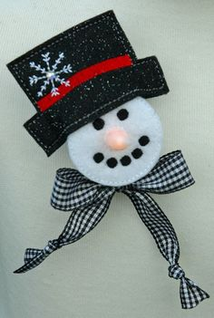 Tealight Snowman Pin maybe make it a magnet