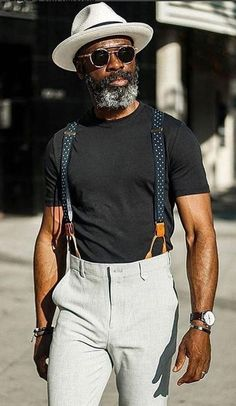 How to wear suspenders, stylish men, men casual, fashion hats, fashion outf How To Wear Suspenders, Men In Suspenders, Suspenders Fashion, Stylish Men, Men Casual, Smart Casual, Fashion Business, Office Fashion, School Fashion