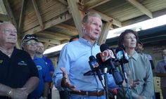 U.S. Sen. Bill Nelson was in Flagler Beach on Wednesday to speak with local officials and view the damaged pier in the wake of Hurricane Matthew.
