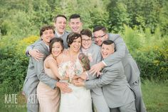 Same Sex Wedding at Monadnock Berry Farm | Bridal Party | NH