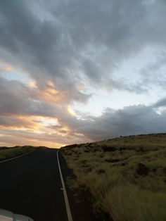 shooting from outside the car on a windy road