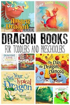 Fantastic Dragon Books and Stories for Toddlers and Preschoolers Preschool Books, Preschool Themes, Toddler Preschool, Book Activities, Preschool Printables, Toddler Books, Childrens Books, Summer Reading Program, Kids Reading