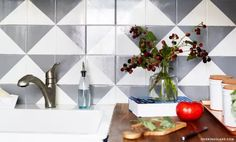 Cover Up Those Old Kitchen Tiles, 3 Really Affordable Ideas to Try | Quadrostyle.com - Peel N' Stick Tile Stickers