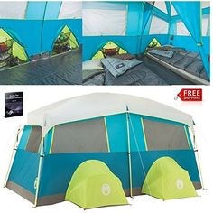 Instant Cabin Tent 8 Person Best Cheap Waterproof Easy Setup Portable Deluxe Big Cabin Tent Bike Kayak Green Outdoor Camping Hiking Family Large Luxury Safety Shelter And eBook By NAKSHOP *** More info could be found at the image url. (This is an affiliate link) #CampingTents